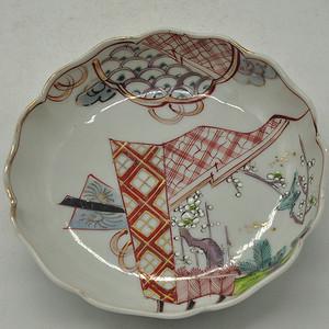 日本粉彩瓷碟