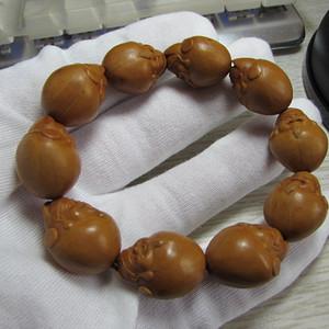 铁油核财神橄榄手串