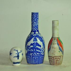 日本小瓷瓶 瓷罐