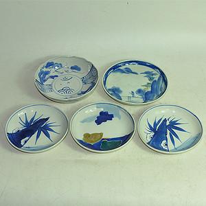 日本青花瓷碟五个