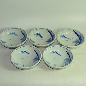 日本青花瓷碗五个
