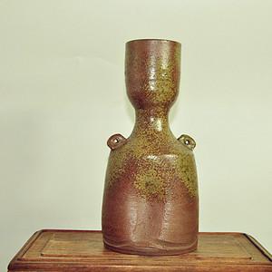 日本花道陶弘款備前花瓶