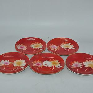 唐山粉彩瓷碟五件套