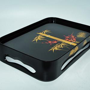 日本茶道漆器托盘