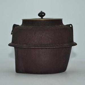 日本茶道铜盖铁釜