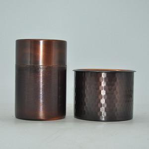 日本纯铜茶罐 食器
