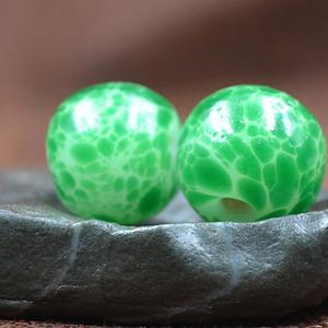 晚清,蛙皮琉璃圆珠