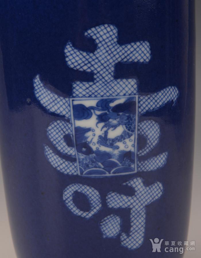 欧洲回季蓝开窗寿纹瓶图4