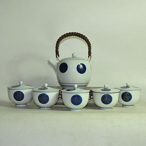 日本瓷茶壶一套
