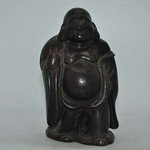 日本備前烧佛像 有残