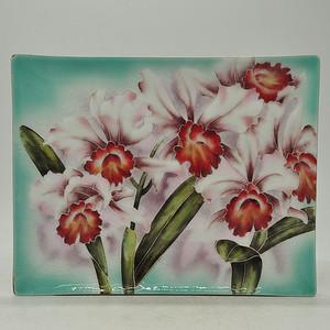 日本七宝烧花卉赏盘