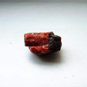 南红玛瑙柿子红满肉籽料原石
