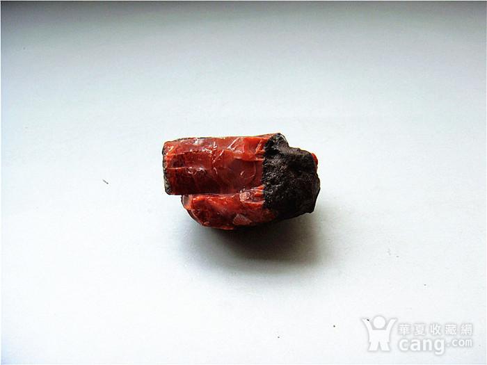 南红玛瑙柿子红满肉籽料原石图1