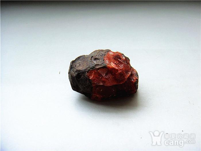 南红玛瑙柿子红满肉籽料原石图3