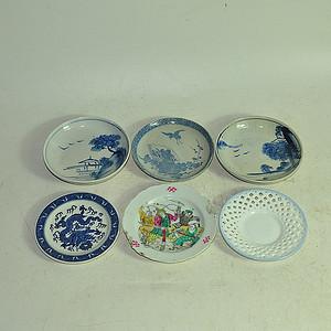 日本小瓷碟六件
