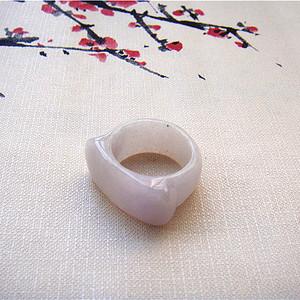 证  天然紫色宽边马鞍戒指