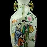 60民国粉彩仕女人物纹瓶