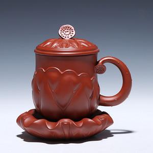 优秀陶艺家 原矿大红袍 荷塘月色杯