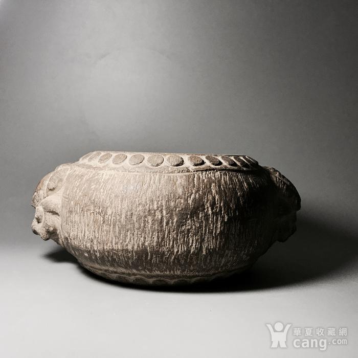 品牌商家 精品石雕 清代双兽头石鼓图2