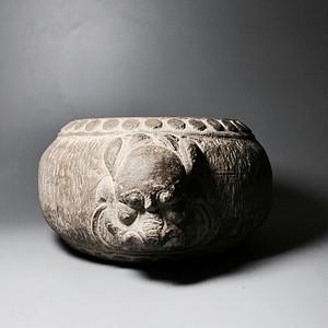 品牌商家 精品石雕 清代双兽头石鼓