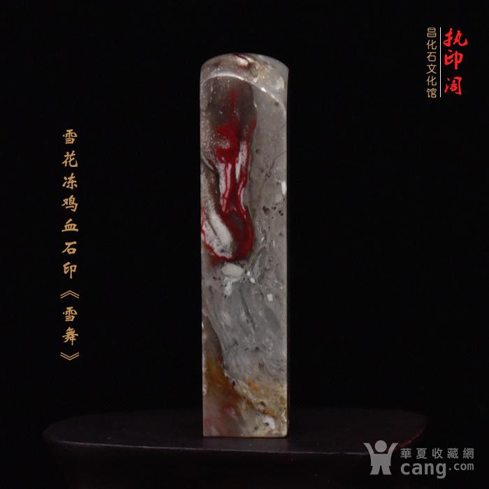 昌化雪花冻鸡血石印章《雪舞》图6
