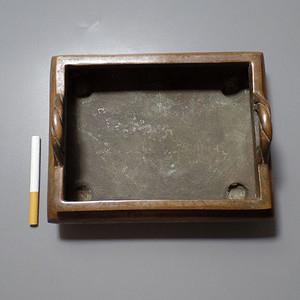 方形  满工  铜香炉