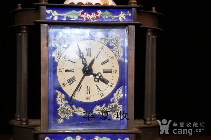 回流民国瑞士欧米茄纯铜手绘珐琅彩机械钟表图3