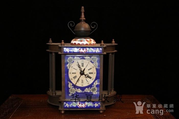 回流民国瑞士欧米茄纯铜手绘珐琅彩机械钟表图1