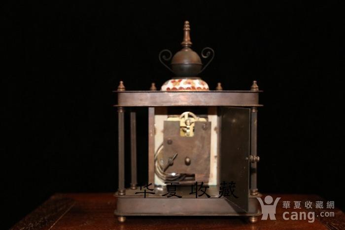 回流民国瑞士欧米茄纯铜手绘珐琅彩机械钟表图5