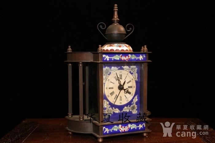 回流民国瑞士欧米茄纯铜手绘珐琅彩机械钟表图6