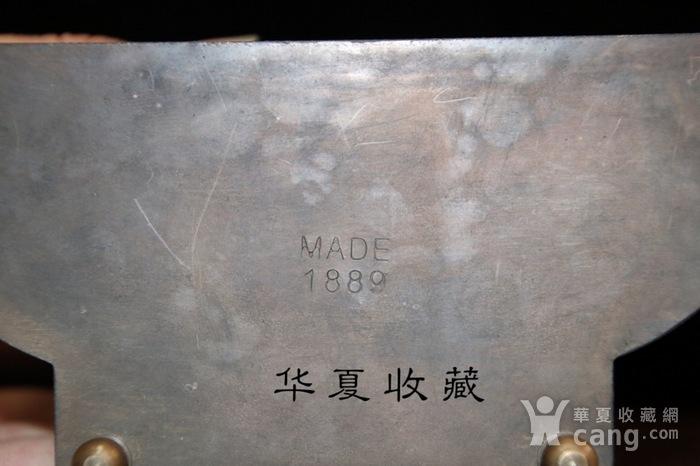 回流民国瑞士欧米茄纯铜手绘珐琅彩机械钟表图7