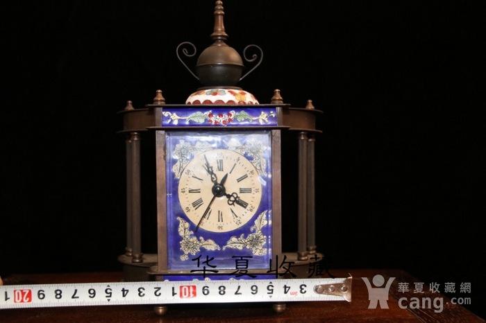 回流民国瑞士欧米茄纯铜手绘珐琅彩机械钟表图8