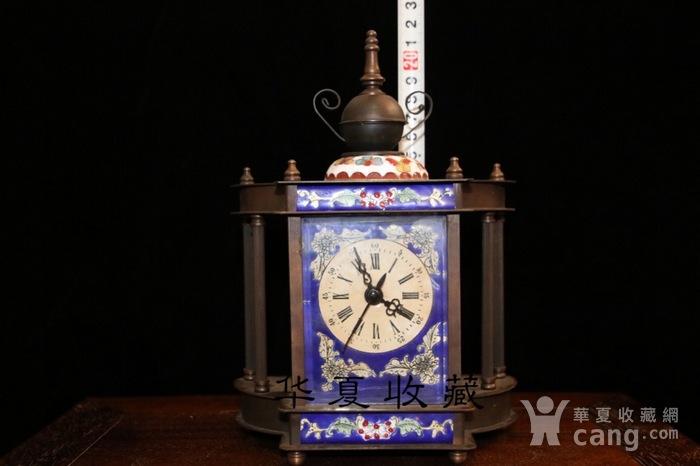 回流民国瑞士欧米茄纯铜手绘珐琅彩机械钟表图9