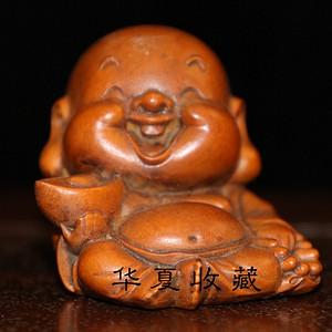晚清民国时期精工级黄杨木宝宝佛摆件拍品