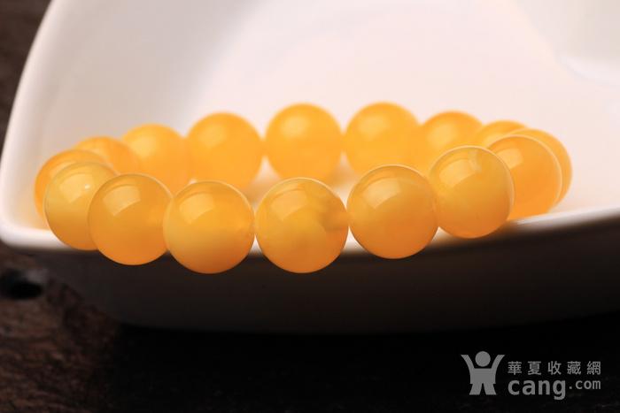 鸡油黄蜜蜡手串   12mm   16.7克图3