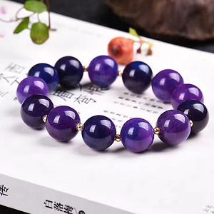 老料舒俱来手链,皇家紫!色泽油润,光泽度强!苏纪石