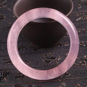 天然粉晶手镯内径59mm