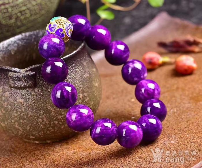 老料舒俱来圆珠手链搭配年年有余铐蓝,皇家紫!色泽油润,光泽度强!苏纪石图3