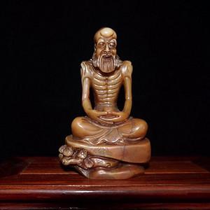 精品赚人气民国时期寿山石精雕罗汉人物摆件