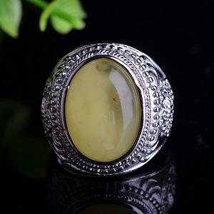 联盟 天然原矿精品乌克兰蜜蜡戒指,圈口大小可以调节