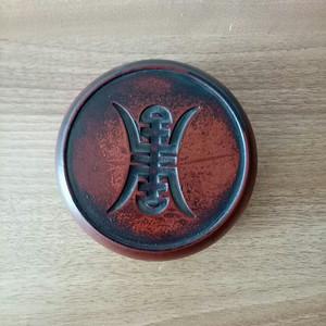 联盟 漆器描金盒石砚