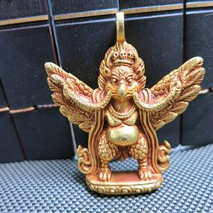 西藏铜鎏金大鹏金翅鸟吊坠