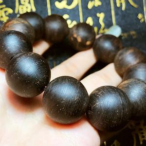 天然越南惠安水沉沉香木20MM大珠佛珠手串