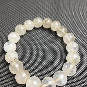 纯天然老水晶老白水晶原石圆珠