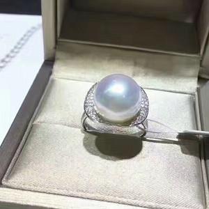 天然白珍珠戒指