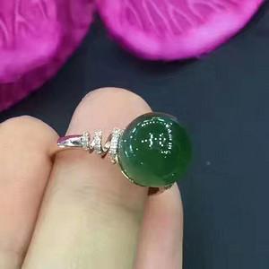 天然和田碧玉戒指