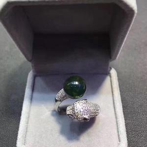 天然墨西哥蓝珀戒指