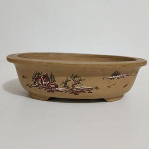 联盟泥绘紫砂盆