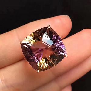 天然紫黄晶戒指