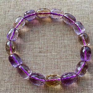 天然紫黄晶手链
